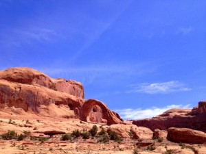 dogs hiking moab