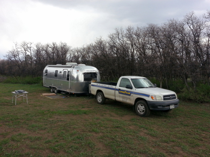 Airstream + Goodyear truck