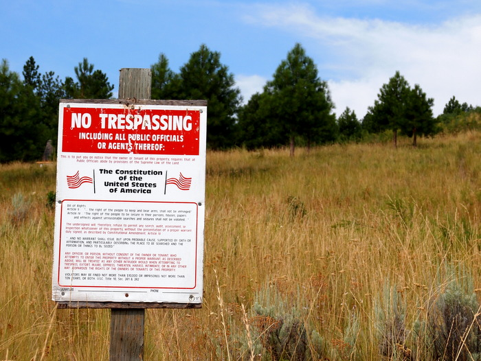 Whoever put up this 'No Trespassing' sign means business