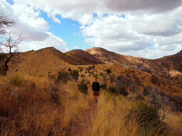 Hiking across the ridge