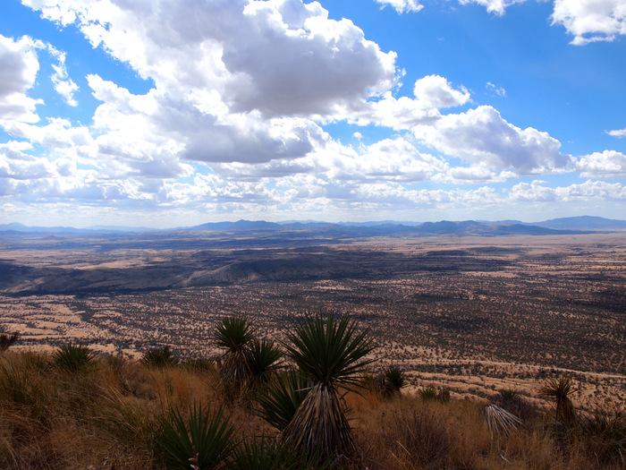 At the top of Coronado Peak looking down into Mexico