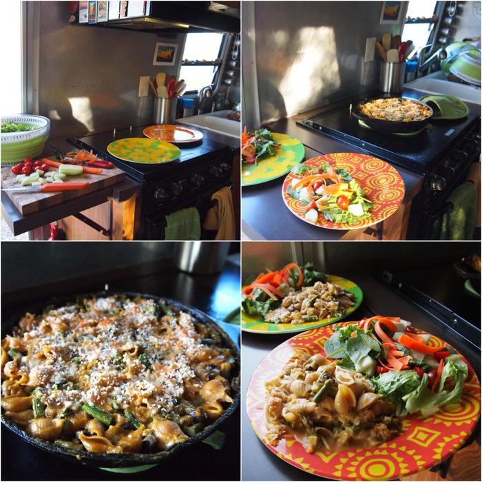 Veggie Tetrazzini + Salad