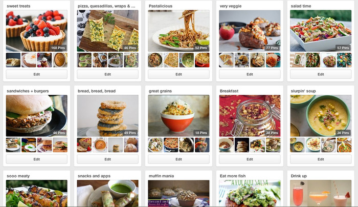 Pinterest- my favorite way to save recipes