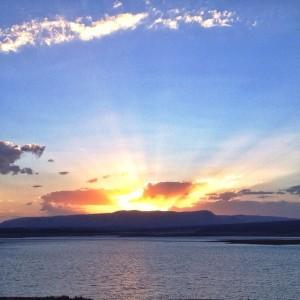 Las sunset in NM