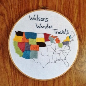 Embroidery Travel Map