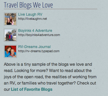 Blogs We Love sidebar