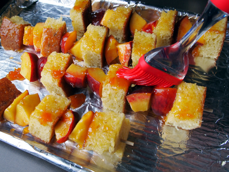 Peach and Cake Kabobs