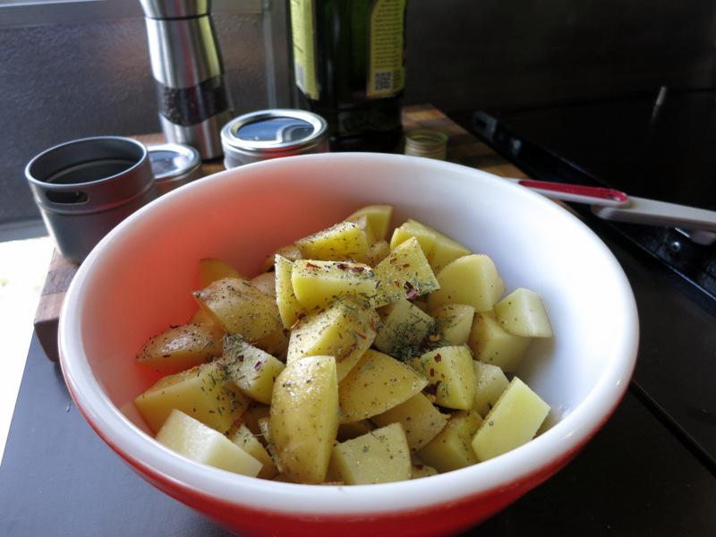 Grilled Lemony Potato Salad