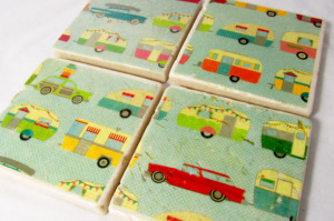 Airstream Handmade Marble Tile Coasters
