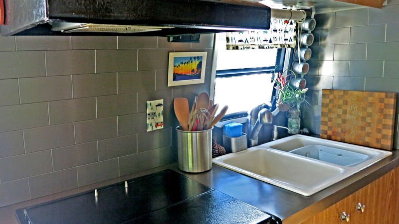 Airstream Update: Kitchen Backsplash - WatsonsWander