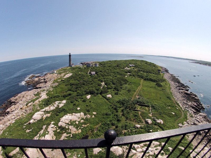 A view from the top of the north lighthouse