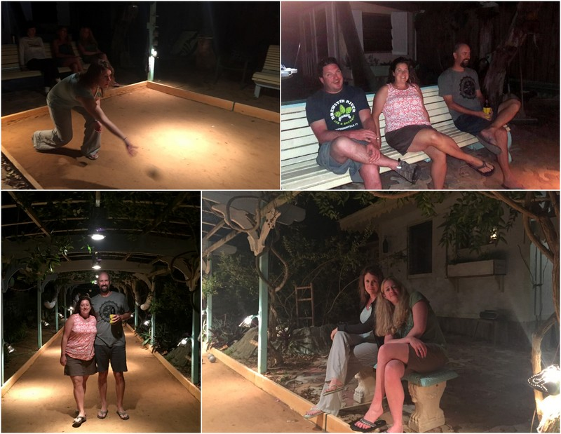 Bocce night on Big Pine Key
