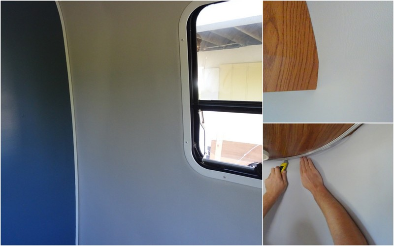 Replacing Airstream vinyl walls