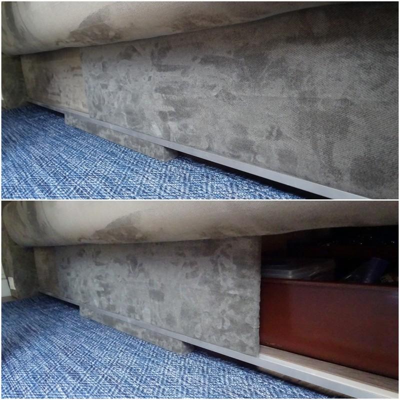 Airstream under couch storage