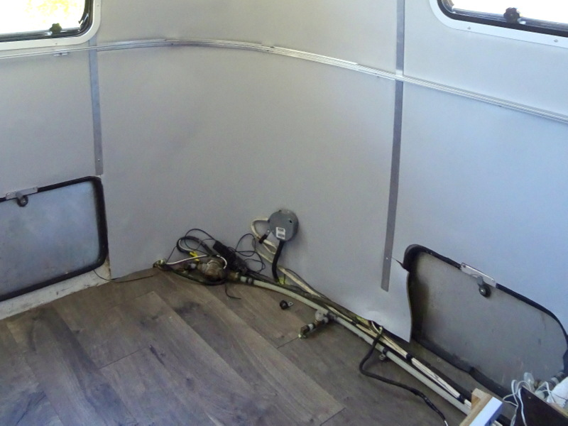 Airstream bedroom floor