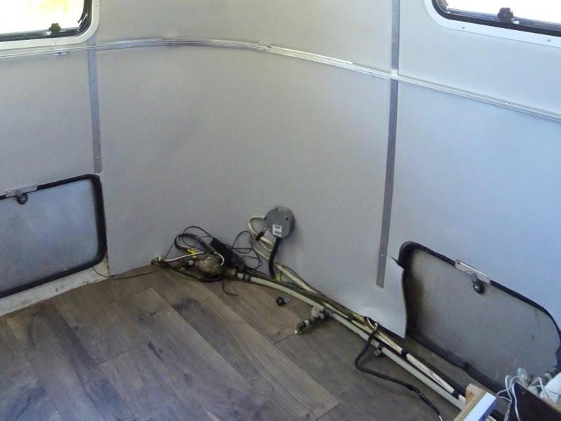 Airstream bedroom floor