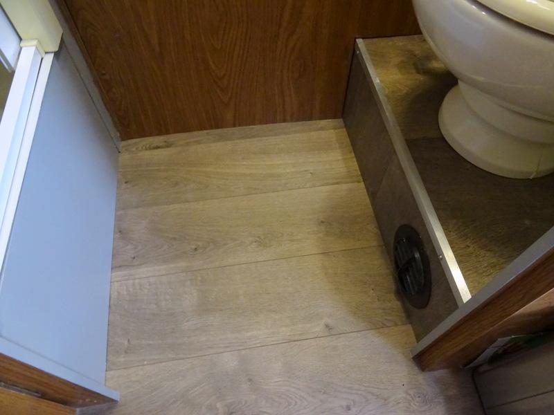 New Airstream laminate floor