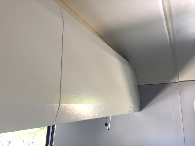 New painted Airstream cabinets
