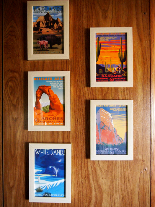 National Park Postcard Display