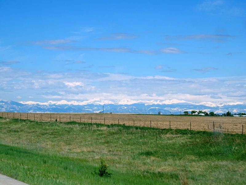 Rocky Mountains as seen from I-70 near Denver, CO