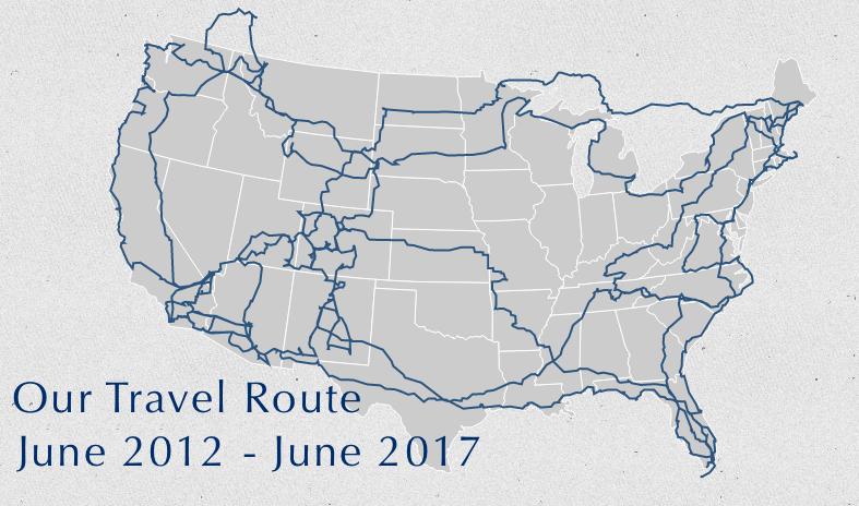 Watsons Wander Travel Route