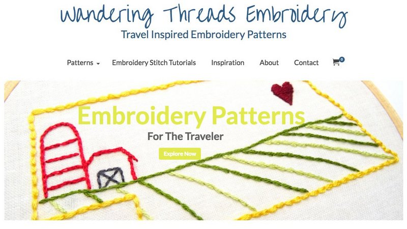 Wandering Threads Embroidery