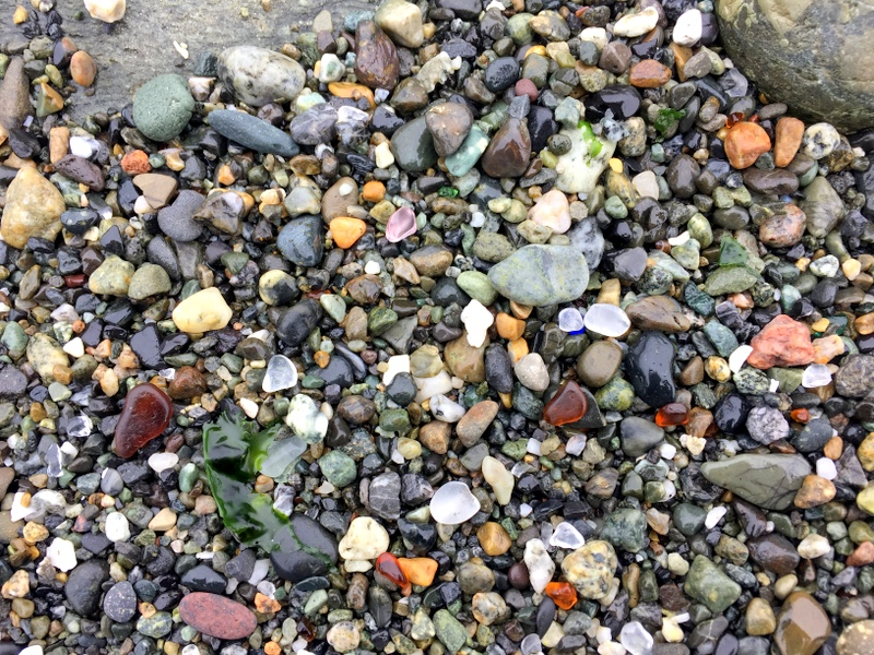 Glass Beach in Port Townsend, WA