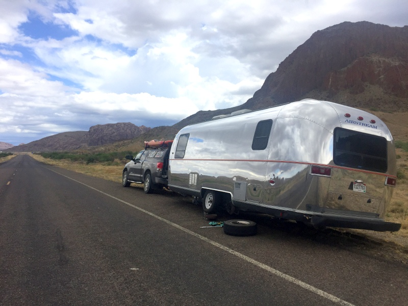 Airstream on a Texas Roadside