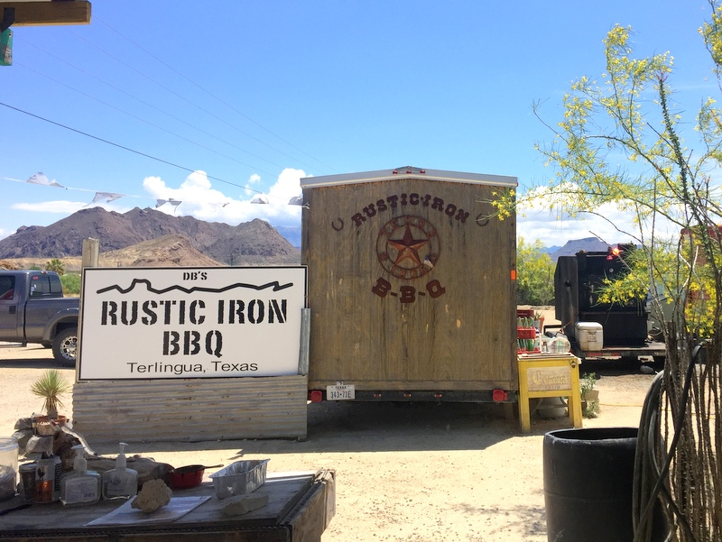 DB's Rustic Iron BBQ in Terlingua, TX