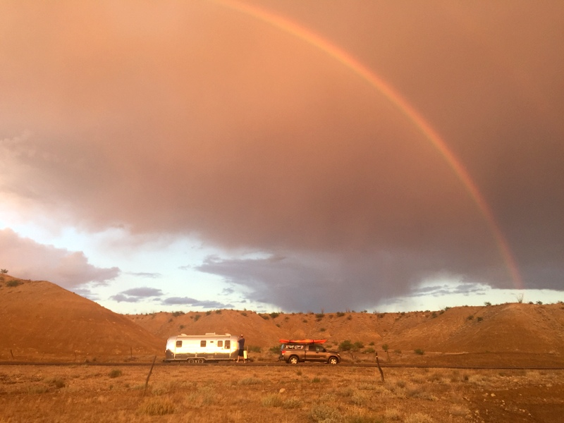 Rainbow over Airstream
